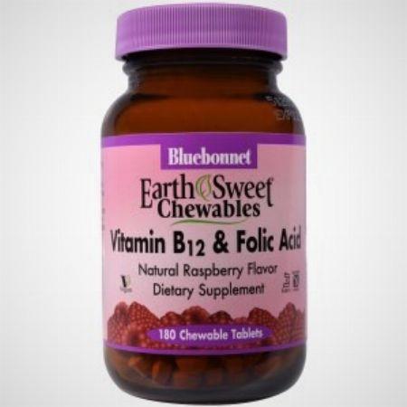 Bluebonnet Nutrition, EarthSweet Chewables, Vitamin B-12 & Folic Acid, Natural Raspberry Flavor, -- Nutrition & Food Supplement Metro Manila, Philippines