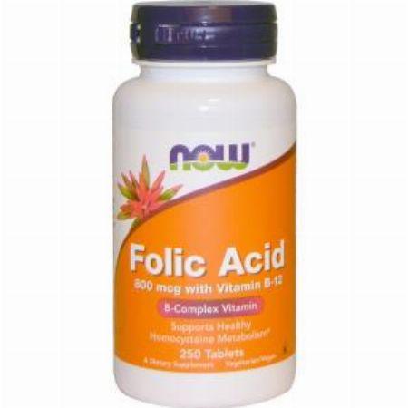 Now Foods, Folic Acid with Vitamin B-12, 800 mcg, 250 Tablets -- Nutrition & Food Supplement Metro Manila, Philippines