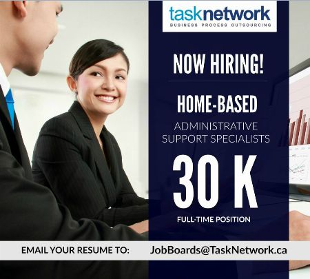P30K / Mo. Salary - Full Time Home-Based Administrative Support Specialists -- Call Center BPO Metro Manila, Philippines