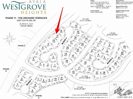 FOR SALE:AYALA WESTGROVE HEIGHTS RESIDENTIAL LOT -- Land Cavite City, Philippines