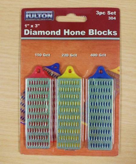 "Fulton 304 3-piece 1"" x 3"" Diamond Hone Blocks -- Home Tools & Accessories -- Metro Manila, Philippines"