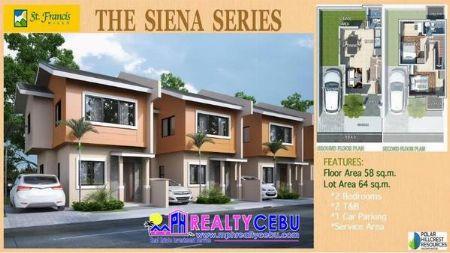 Siena - 2Bedroom House in St. Francis Hills Consolacion Cebu -- House & Lot -- Cebu City, Philippines