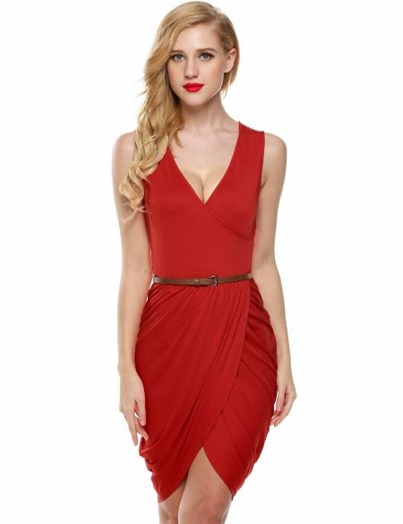 DeepVNeck, Sleeveless, Formal, Casual,Dress -- Clothing -- Quezon Province, Philippines