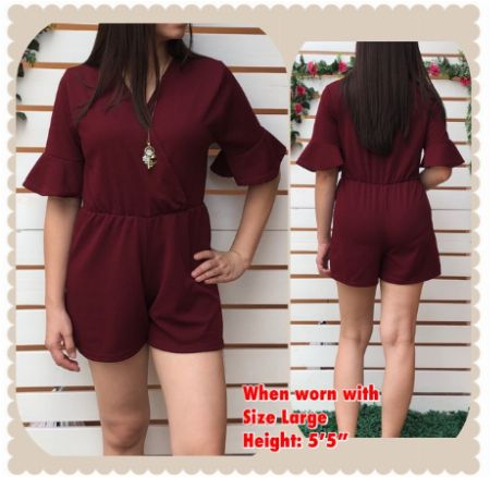 Romper, Sleeved, Maroon -- Clothing Quezon Province, Philippines