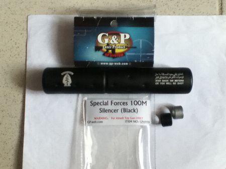 G&P Airsoft Special Forces Suppresor -- Airsoft -- Metro Manila, Philippines