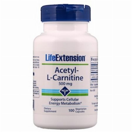 Life Extension, Acetyl-L-Carnitine, 500 mg, 100 Veggie Caps -- Nutrition & Food Supplement Metro Manila, Philippines