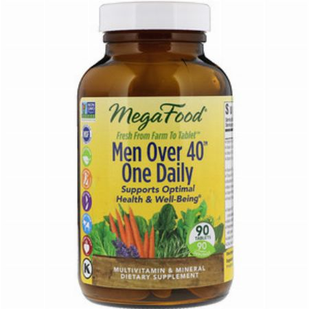 MegaFood, Men Over 40 One Daily, Iron Free, 90 Tablets -- Nutrition & Food Supplement Metro Manila, Philippines