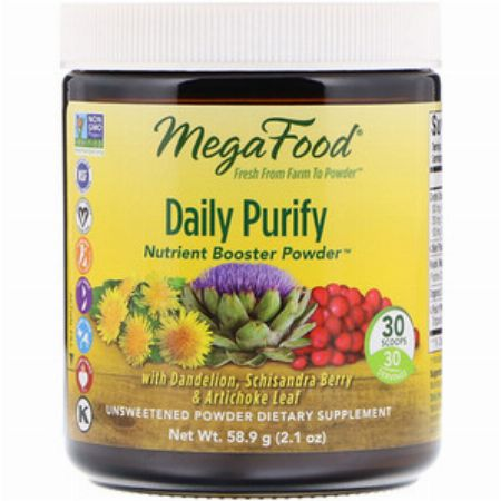 MegaFood, Daily Purify, Nutrient Booster Powder, Unsweetened, 2.1 oz (58.9 g) -- Nutrition & Food Supplement Metro Manila, Philippines