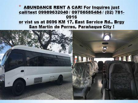 Car Rentals -- Cars & Sedan Metro Manila, Philippines