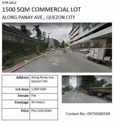 Commercial Lot along Panay Avenue -- Land Metro Manila, Philippines