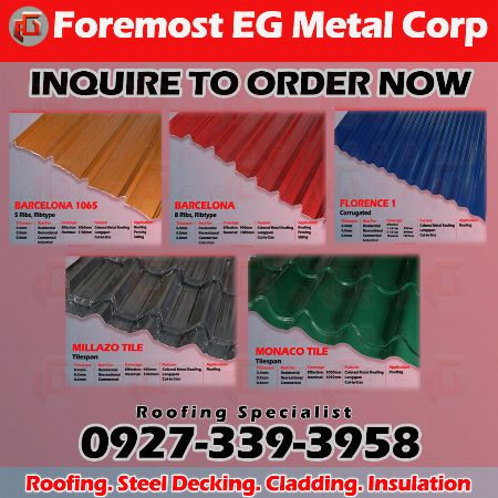 ribtype roofing, tilespan roofing ,longspan roofing, colored roofing, precoated roofing -- Architecture & Engineering -- Metro Manila, Philippines