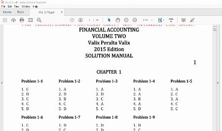 solution manual, solution manual valix, valix manual financial accounting, -- Other Classes -- Metro Manila, Philippines