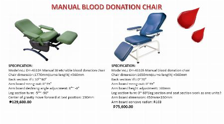 ELECTRIC AND MANUAL DONATION CHAIR -- Other Services -- Santa Rosa, Philippines