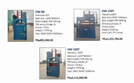BALER MACHINES -- Other Services -- Santa Rosa, Philippines