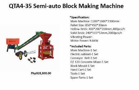 Semi-Auto Block Making Machines -- Other Services -- Santa Rosa, Philippines
