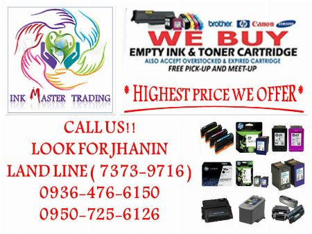 BUYER OF EMPTY INK CARTRIDGES AND TONER -- Printers & Scanners Makati, Philippines