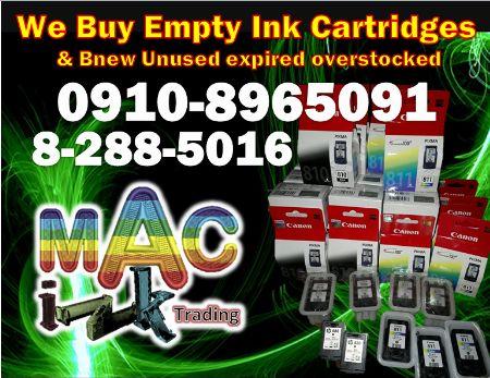 Empty,Brand new,Expired,Overstocked ink cartridges -- Printers & Scanners Metro Manila, Philippines