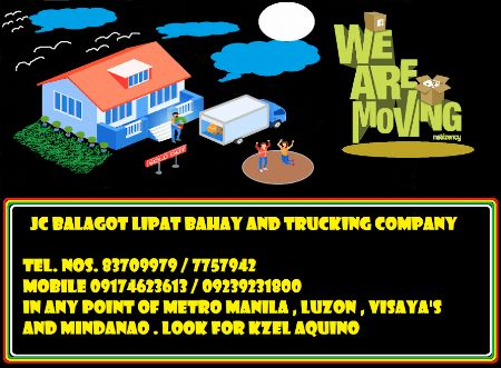 trucking services for (LIPAT BAHAY) -- Rental Services -- Damarinas, Philippines