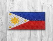 Flag, Philippine, philippine flag, patch, tactical morale, survival, camping, molle, edc, bag, jacket, subdued, khaki, gray -- Airsoft -- Rizal, Philippines