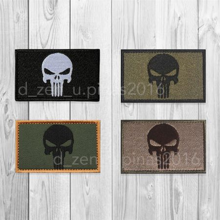 punisher, skull, pirate, tactical, morale, edc, survival, camping, velcro, patch, embroidered -- Airsoft -- Rizal, Philippines