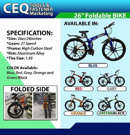 """Foldable Bike 26"""" -- Mountain Bikes Metro Manila, Philippines"""