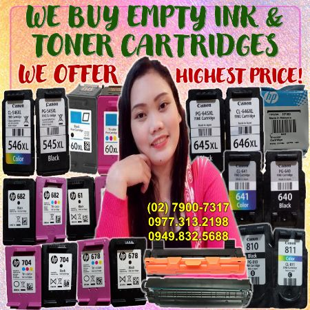 EMPTY INK CARTRIDGES,EMPTY INK,CARTRIDGES,EMPTY CARTRIDGES -- Printers & Scanners Antipolo, Philippines