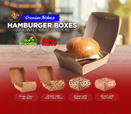 Paper, Hamburger, Kraft, SDC, Boxes, food packaging -- Other Services -- Valenzuela, Philippines