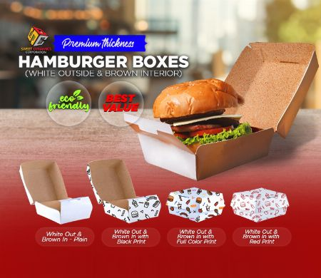 Paper, Hamburger, Kraft, SDC, Boxes, food packaging, white -- Other Services -- Valenzuela, Philippines