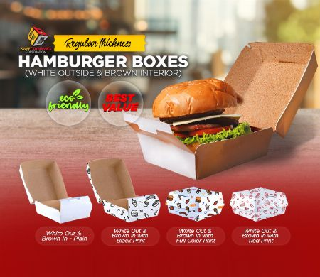 Paper, Hamburger, Kraft, SDC, Boxes, food packaging, Regular, Thickness -- Other Services -- Valenzuela, Philippines