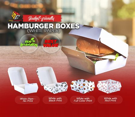 Paper, Hamburger, Kraft, SDC, Boxes, food packaging, white, Budget friendly -- Other Services -- Valenzuela, Philippines