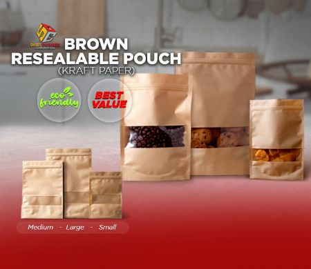 Kraft, Brown, Pouch, SDC, Resealable -- Other Services Valenzuela, Philippines