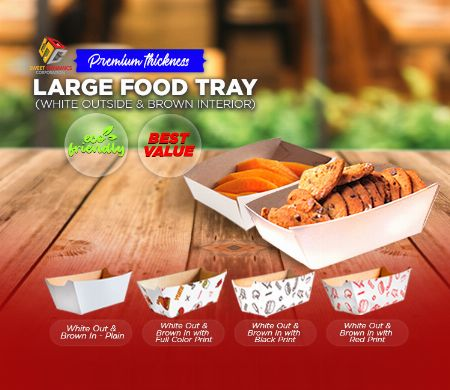 Paper, Food, Kraft, SDC, Boxes, food packaging, Tray, White -- Other Services Valenzuela, Philippines