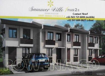 summer ville p 7, 413 per month subd in cordova, cebu, -- Townhouses & Subdivisions -- Cebu City, Philippines
