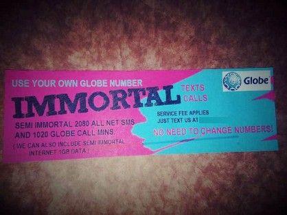 globe sim unlock semi immortal, -- Phone Service -- Metro Manila, Philippines