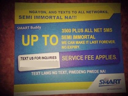 smart sim card semi immortal, -- Mobile Accessories -- Metro Manila, Philippines