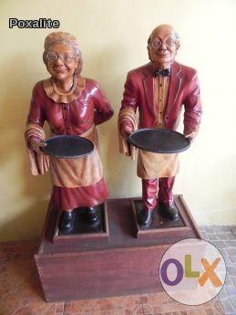 butler, restaurant decor, statue figure, vintage, -- Kitchen Decor -- Bacoor, Philippines