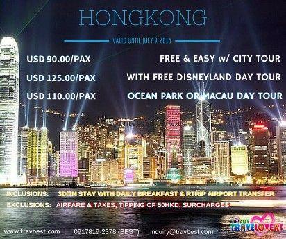disneyland hongkong, hongkong tour package, hongkong vacation packages, hongkong free easy tour package, -- Travel Agencies Metro Manila, Philippines