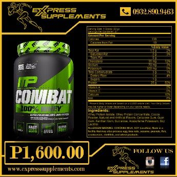 muscle pharm combat 100 whey 2lbs, protein, whey, musclepharm, -- Exercise and Body Building Metro Manila, Philippines