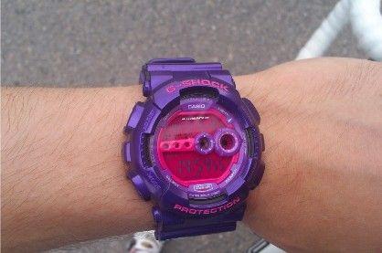 casio g shock gd100sc 6 x large digital shocking purple resin, -- Watches Metro Manila, Philippines
