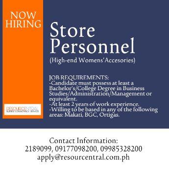 saleslady makati bgc pasig ortigas greenhills, -- Retail Jobs Metro Manila, Philippines