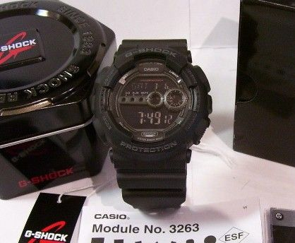casio g shock gd100 1b x large digital all black resin for men, -- Watches Metro Manila, Philippines