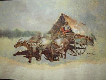 archaicshop, painting, kalabaw, art, -- Drawings & Paintings -- Metro Manila, Philippines