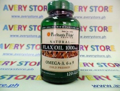 puritans pride flax oil 1000 mg 120 sgels, flax oil, flaxoil, -- Everything Else Marikina, Philippines