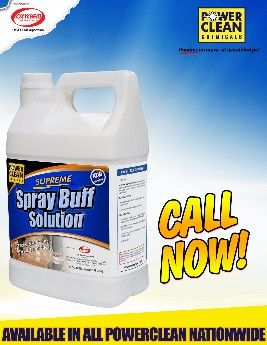 spray buff solutions supreme powerclean cleaning chemicals, cleaning chemical solution, water based gloss restorer, floor cleaning chemicals, -- All Home & Garden Metro Manila, Philippines