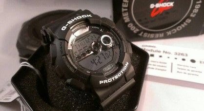 casio g shock gd100bw 1 x large stealth black resin mirror dial for men, -- Watches Metro Manila, Philippines